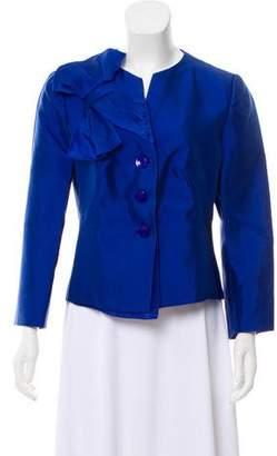 Armani Collezioni Silk-Blend Collarless Jacket