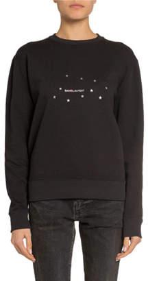 03ce585b9088ab Saint Laurent Stars Logo Graphic Sweatshirt, Black