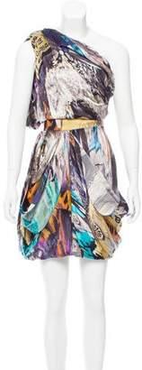 Matthew Williamson Silk One-Shoulder Dress