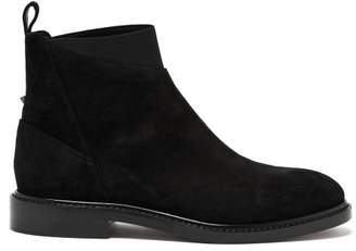 Valentino Rockstud Suede Chelsea Boots - Mens - Black
