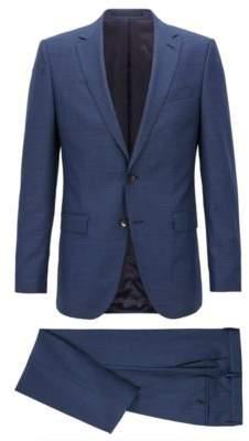 BOSS Hugo Slim-fit suit in melange virgin wool 38R Open Blue