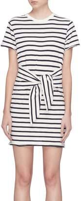 Rag & Bone 'Halsey' tie front stripe T-shirt dress