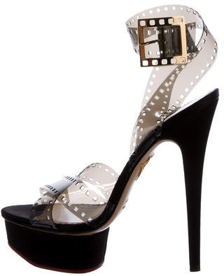 Charlotte Olympia Charlotte Olympia Girls On Film PVC Sandals