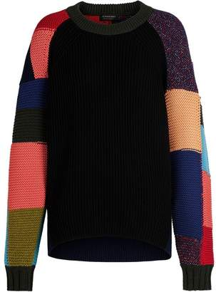 Burberry Patchwork Wool Cashmere Blend Sweater