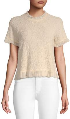 Moon River Women's Tulle Trip Top