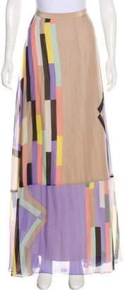 Tibi Maxi Silk Skirt