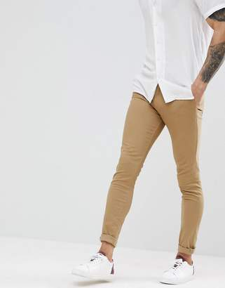 New Look Super Skinny Chinos In Tan