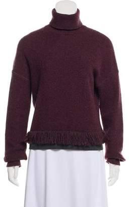 Fendi Long Sleeve Turtleneck Sweater