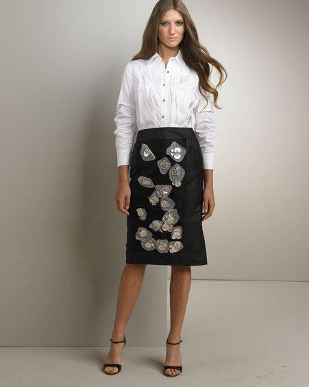 Rachel Roy Raz Beaded Skirt