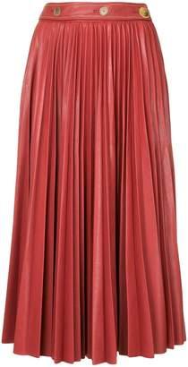 System pleated midi skirt