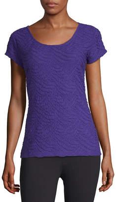 Liz Claiborne Short-Sleeve Textured Knit T-Shirt