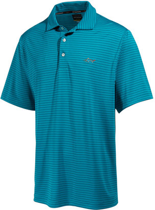 Greg Norman for Tasso Elba Men's 5-Iron Striped Performance Polo, Only at Macy's $49.50 thestylecure.com