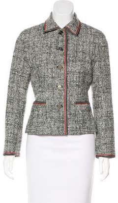 Courreges Tweed Button-Up Jacket