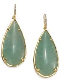 ABS by Allen Schwartz Teardrop Resin& Stone Earrings