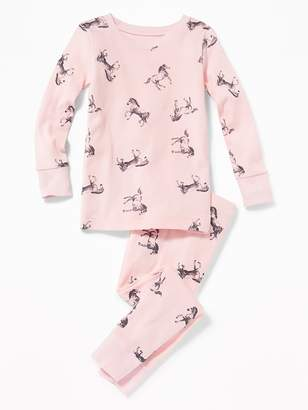 Old Navy Horse-Print Sleep Set for Toddler Girls & Baby