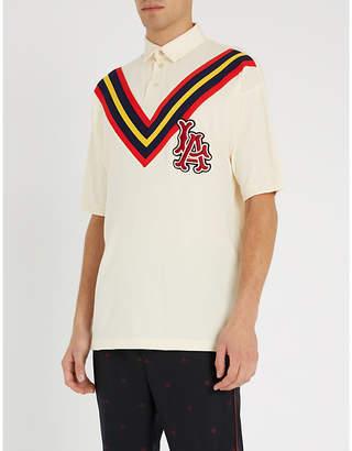 Gucci LA AngelsTM cotton polo shirt