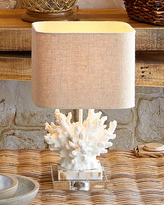 """Horchow White """"Coral"""" Lamp"""