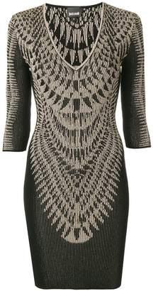 Just Cavalli printed ribbed dress