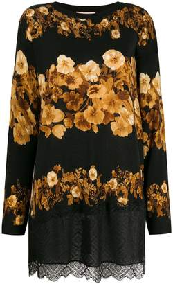Twin-Set flower-print knit top