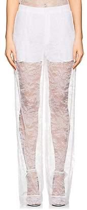 Givenchy WOMEN'S LACE WIDE-LEG PANTS - WHITE SIZE 38 FR