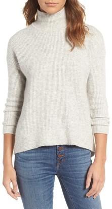 Women's Madewell Wafflestitch Turtleneck Sweater $98 thestylecure.com