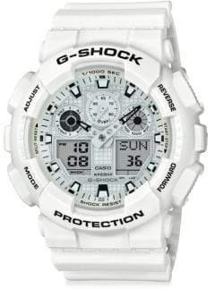 G-Shock Round Shock-Resistant Strap Watch