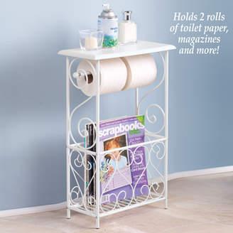 Bigbolo Bathroom Toilet Paper Holder Storage Magazine Basket Table