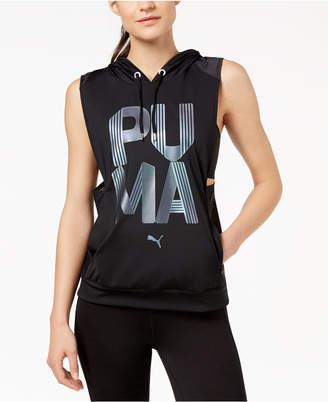 Puma Punch Metallic-Logo Hoodie Vest