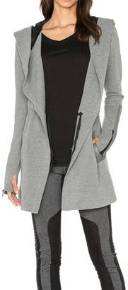 Blanc Noir Hooded Moto Jacket $179 thestylecure.com
