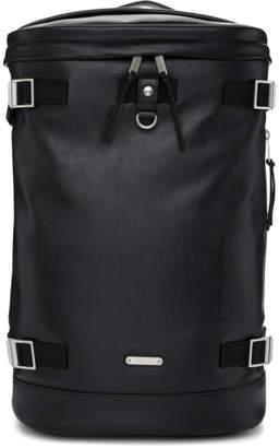 Saint Laurent Black Leather Rivington Race Backpack