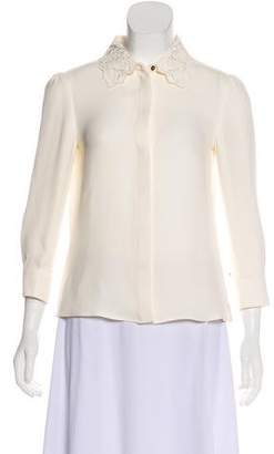 Louis Vuitton Embroidered Crepe Top