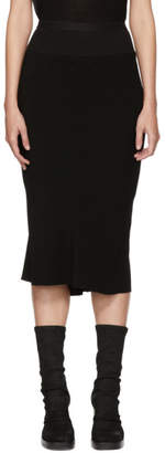Rick Owens Black Knee Length Cady Skirt