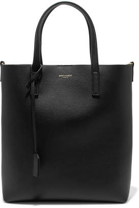 Saint Laurent Shopper Textured-leather Tote - Black