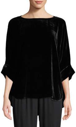 Eileen Fisher Dolman-Sleeve Velvet Top
