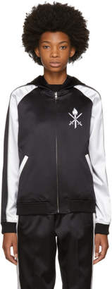 Opening Ceremony Reversible Black and White Silk Track Jacket