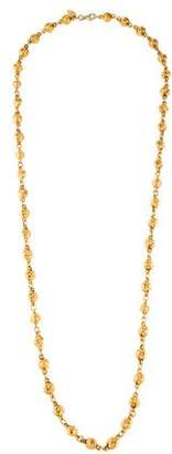 Chanel Textured Bead Necklace
