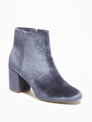 Velvet Ankle Boots for Women $44.94 thestylecure.com