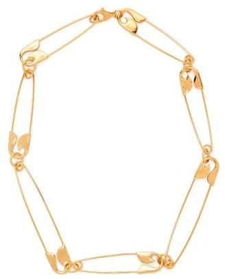 Balenciaga Safety Pin Necklace - Womens - Gold