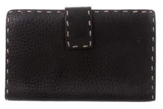 Fendi Selleria Leather Wallet Black Selleria Leather Wallet