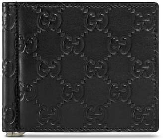 Gucci Signature Leather Money Clip Card Case
