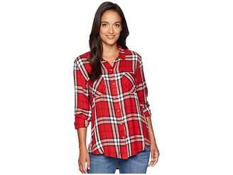 Lucky Brand Boyfriend Plaid Shirt