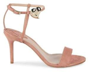 Aperlaï Palma Heart Suede Stiletto Sandals
