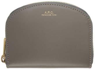 A.P.C. Grey Half Moon Compact Wallet