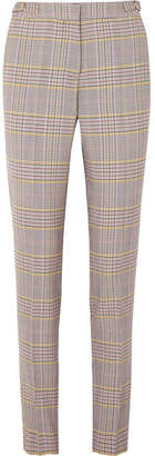 Gabriela Hearst - Lisa Plaid Wool-blend Skinny Pants - Gray