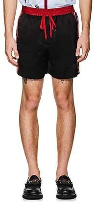 Gucci Men's Logo Tech-Twill Shorts - Black