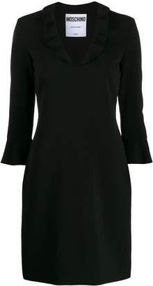 Moschino ruffled neck mini dress