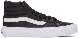 Vans Black OG Sk8-Hi LX Sneakers $110 thestylecure.com