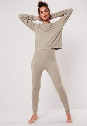 Missguided Beige Mix And Match Super Soft Pyjama Leggings