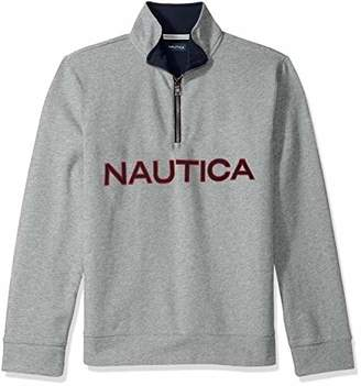 Nautica Men's Chest Logo 1/4 Zip Fleece Sweatshirt