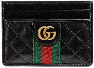 Gucci Leather card case with Double G
